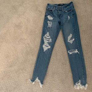 Express high wasted ripped jeggings